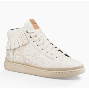 Ugg Cali High Fringe Leather Fashion Sneakers